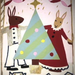 'Rabbits' - Christmas Card