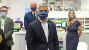 Mayor of London Candidate Sadiq Khan visits Hestia and Superdrug Safe Space